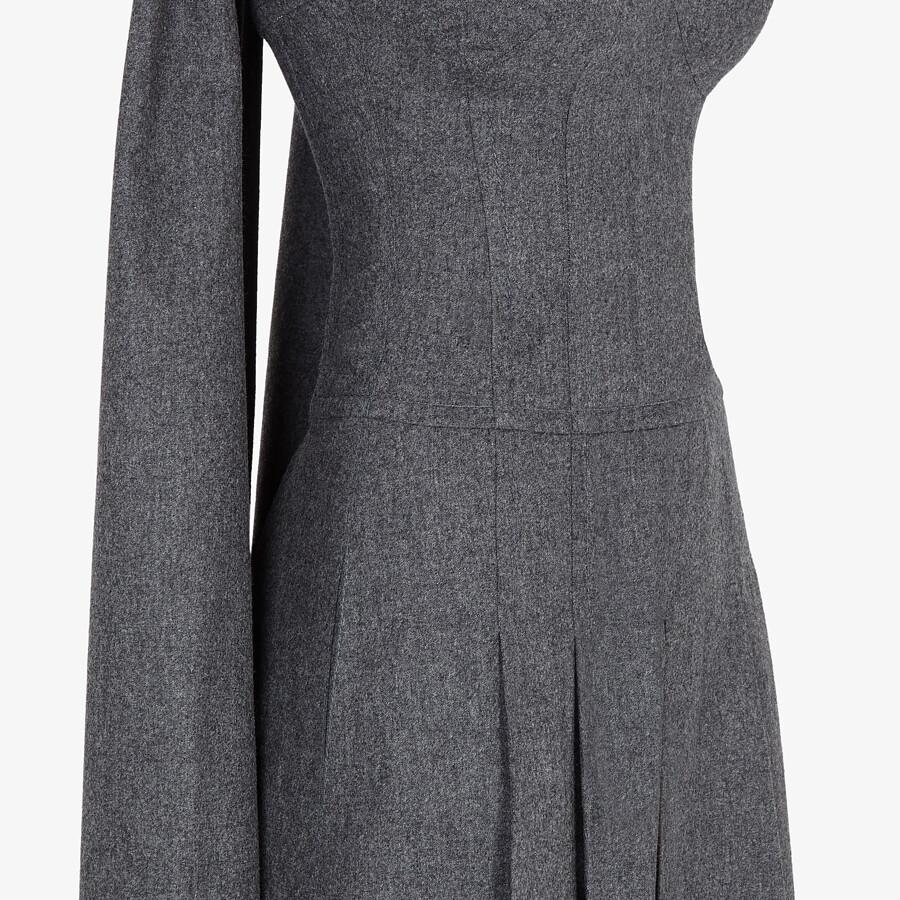 FENDI DRESS - Gray flannel dress - view 3 detail