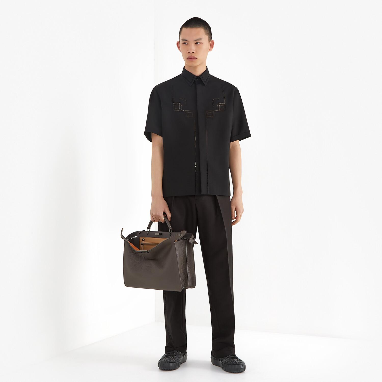 FENDI PEEKABOO ISEEU MEDIUM - Brown leather bag - view 7 detail