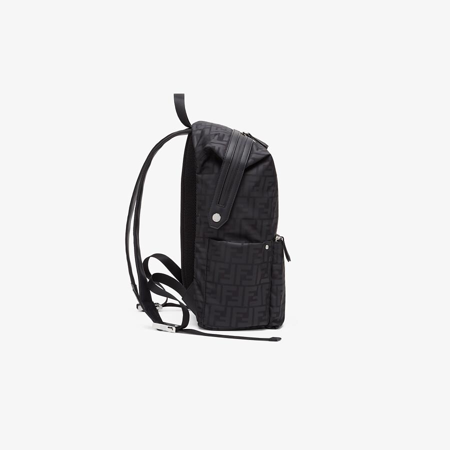 FENDI JUNIOR BACKPACK - Matt black nylon junior backpack - view 2 detail