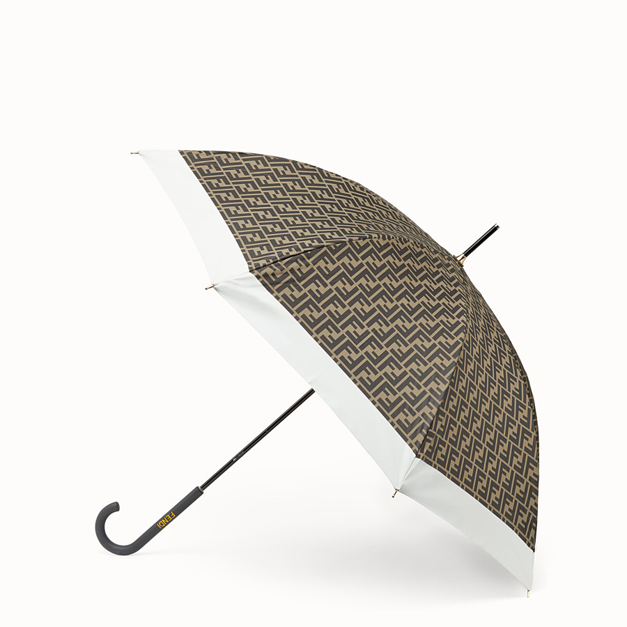 FENDI UMBRELLA - Brown tech fabric umbrella - view 1 detail