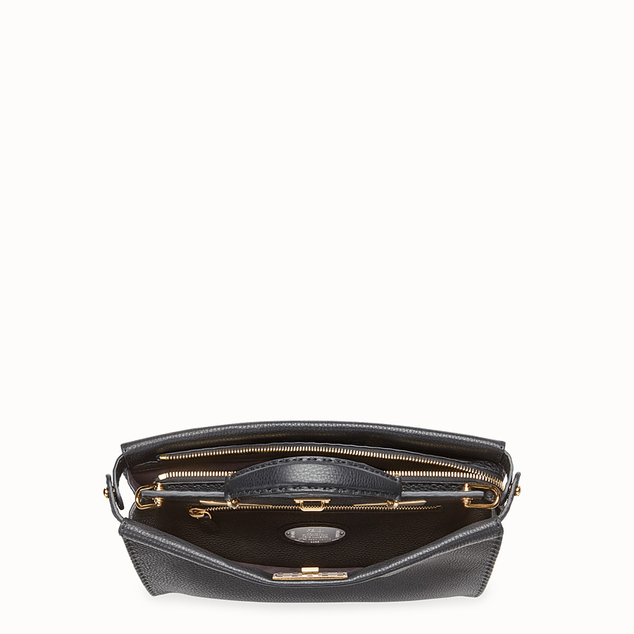 FENDI PEEKABOO FIT - Black Roman leather bag - view 4 detail