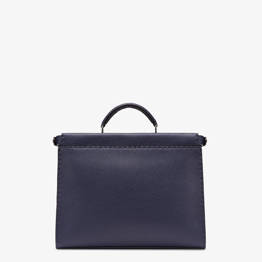 FENDI PEEKABOO ICONIC FIT - Tasche aus Leder in Blau - view 3 detail