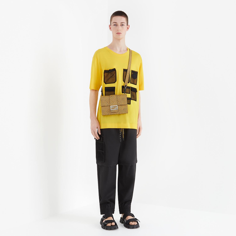 FENDI T-SHIRT - Yellow cotton T-shirt - view 4 detail