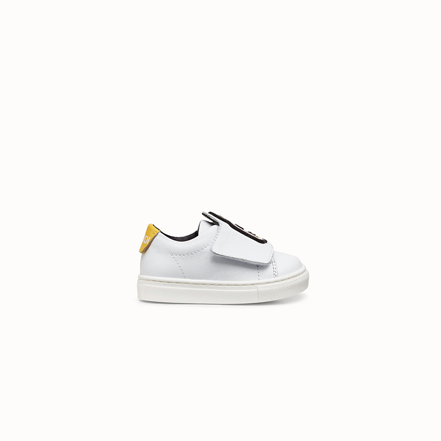FENDI FIRST-STEPS SNEAKERS - White leather shoes - view 1 detail