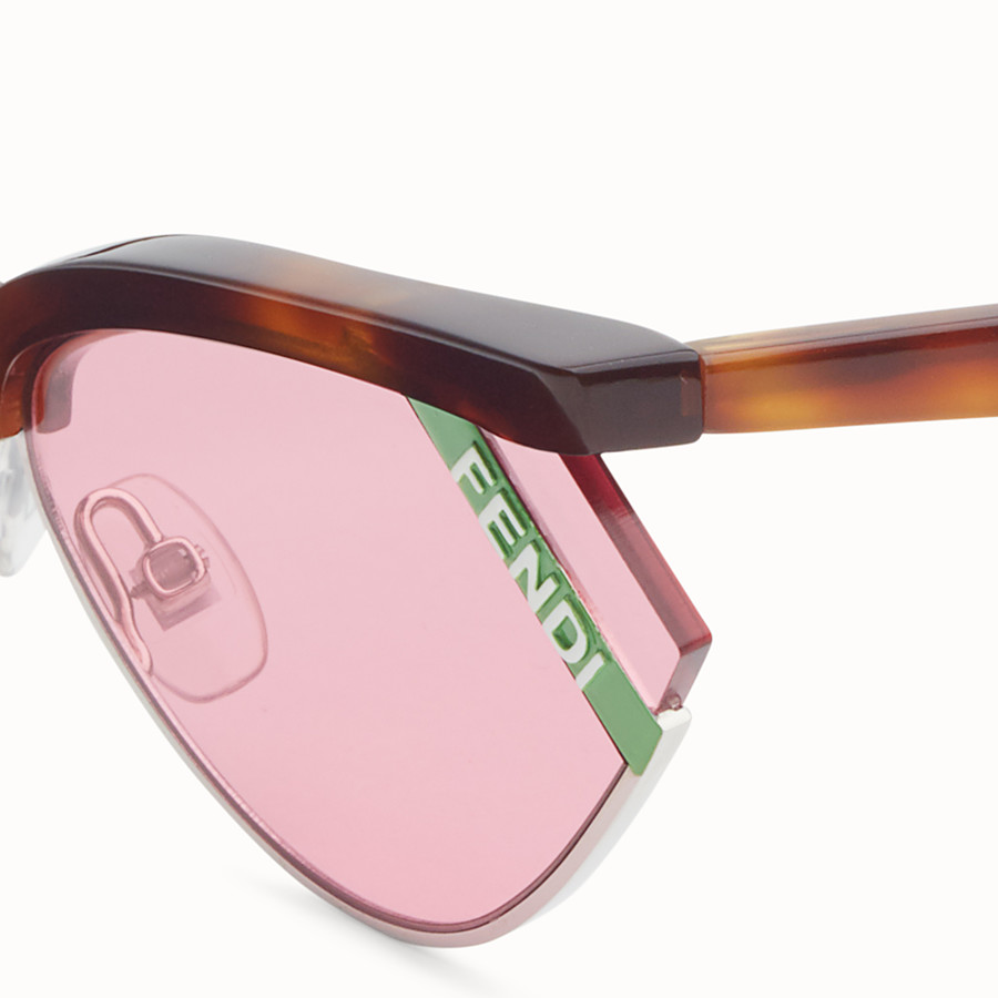FENDI GENTLE Fendi No. 1 - Havana and pink sunglasses - view 3 detail