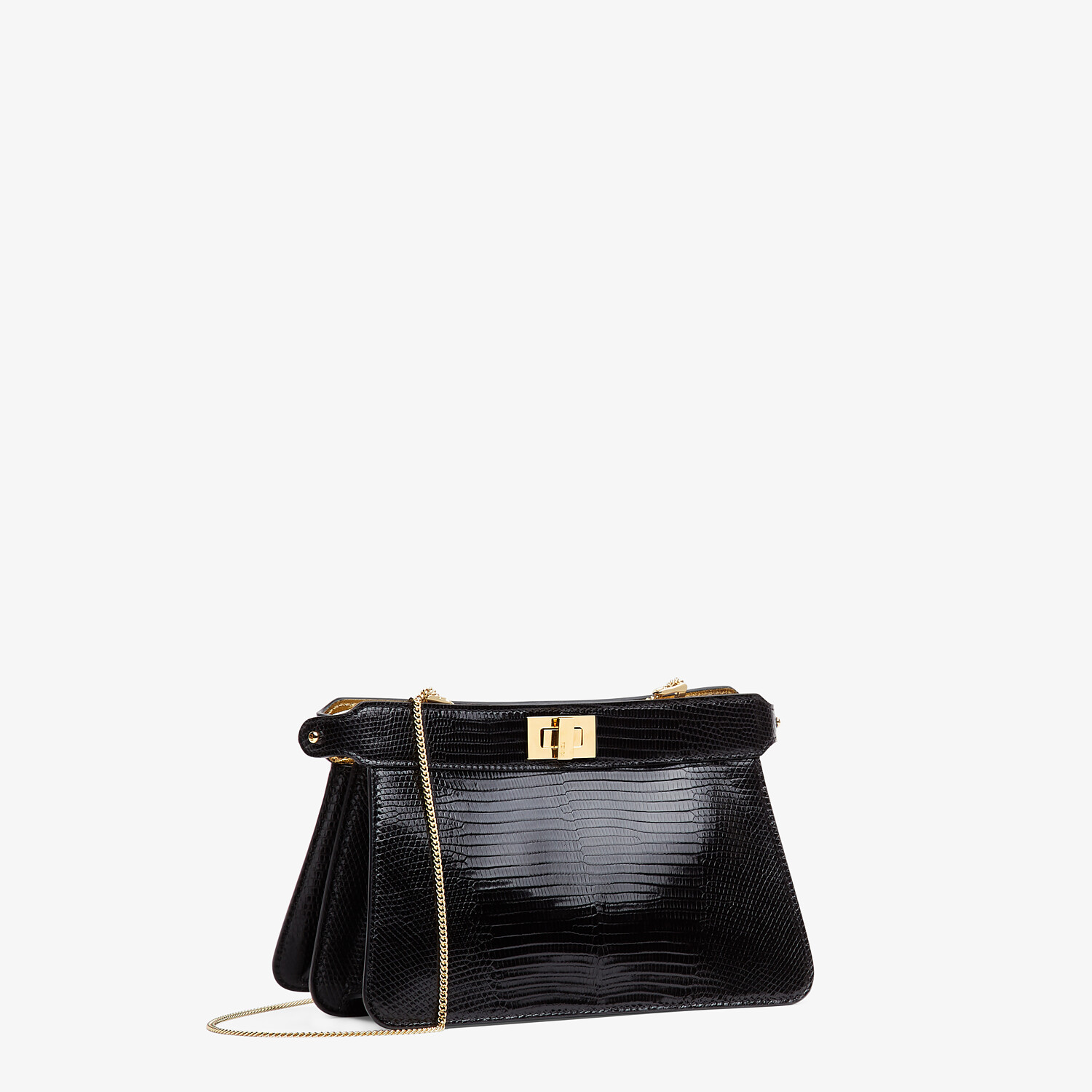FENDI PEEKABOO ISEEU POCHETTE - Black lizard leather bag - view 3 detail