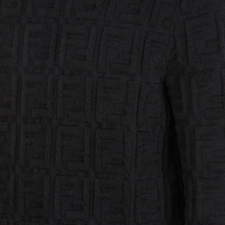 FENDI PULLOVER - Black fabric jumper - view 3 detail