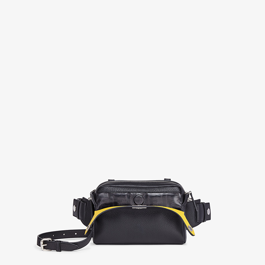 FENDI BELT BAG - Black leather belt bag - view 2 detail