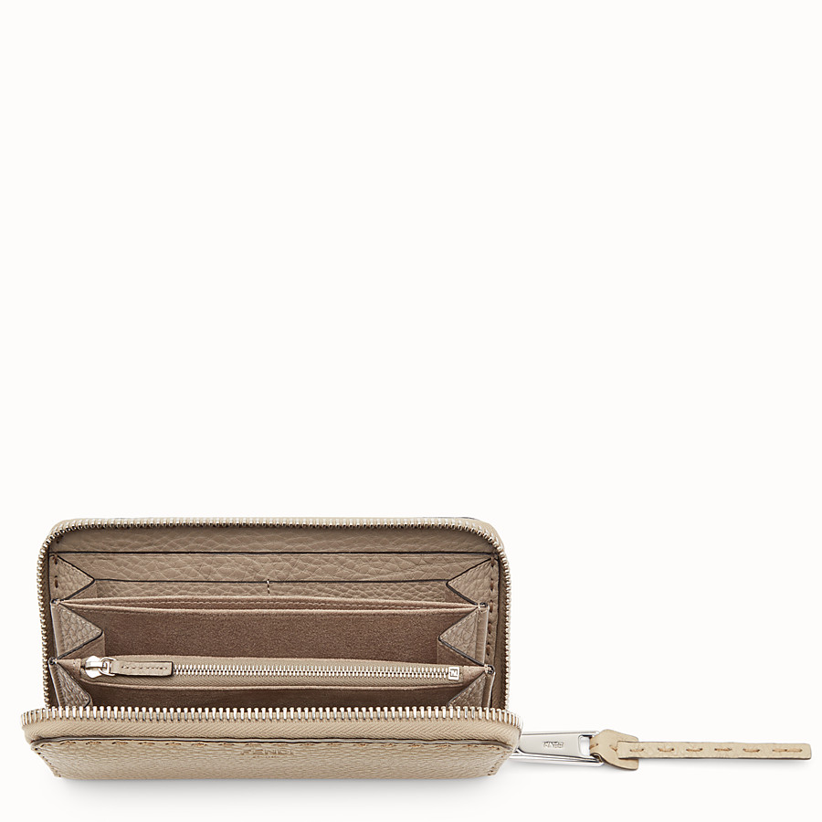 FENDI ZIP AROUND - Zip around Selleria beige - vista 4 dettaglio