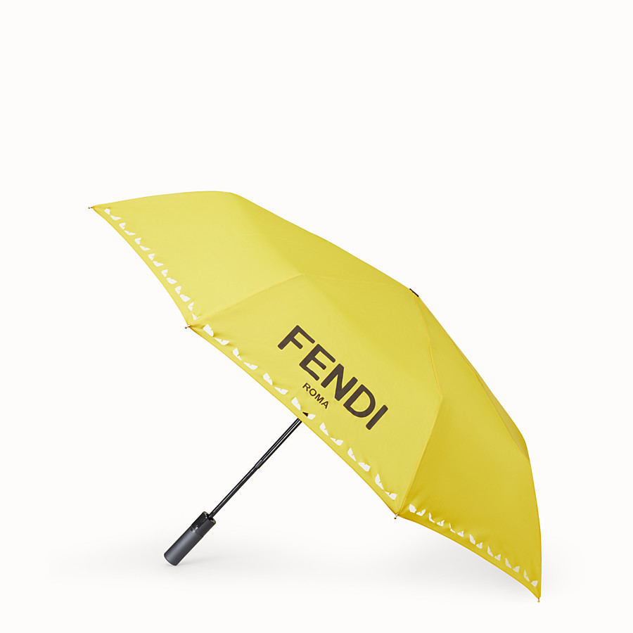FENDI UMBRELLA - Yellow tech fabric umbrella - view 1 detail