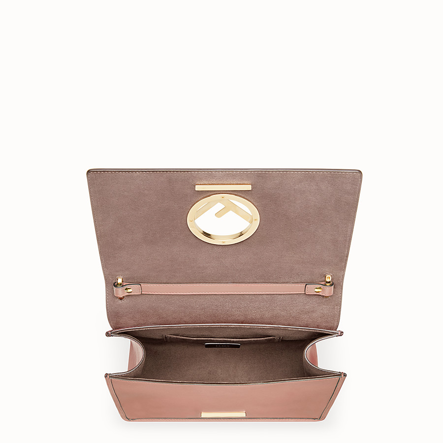 FENDI KAN I F - Pink leather bag - view 4 detail