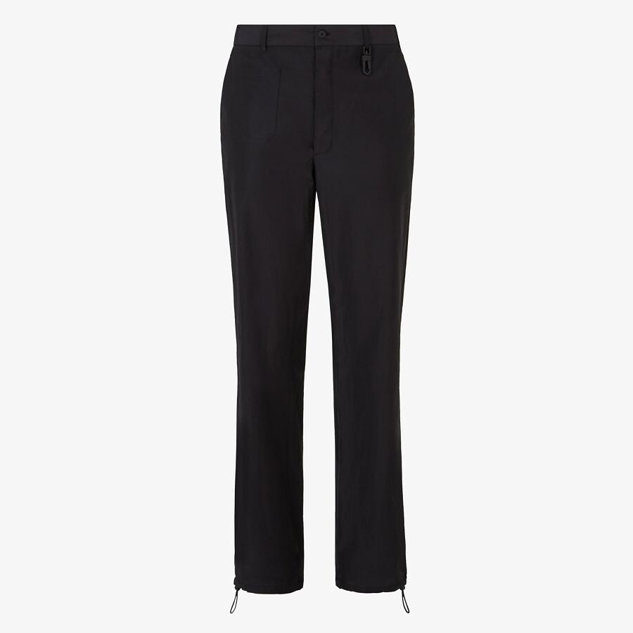 FENDI TROUSERS - Black cotton trousers - view 1 detail