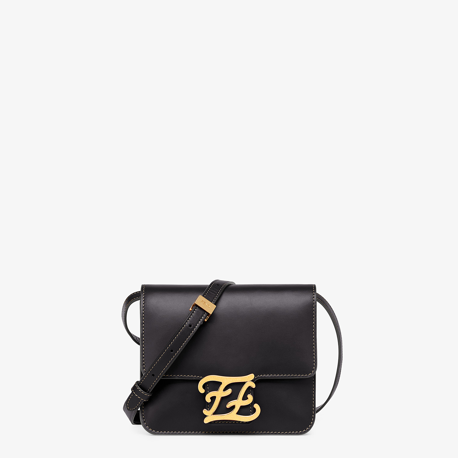 FENDI KARLIGRAPHY - Black leather bag - view 1 detail