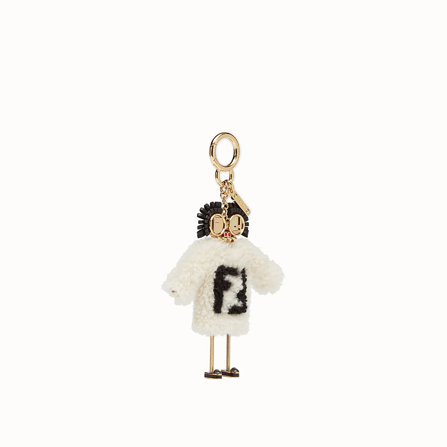 FENDI TEEN WITCHES CHARM - Multicolour sheepskin charm - view 1 detail