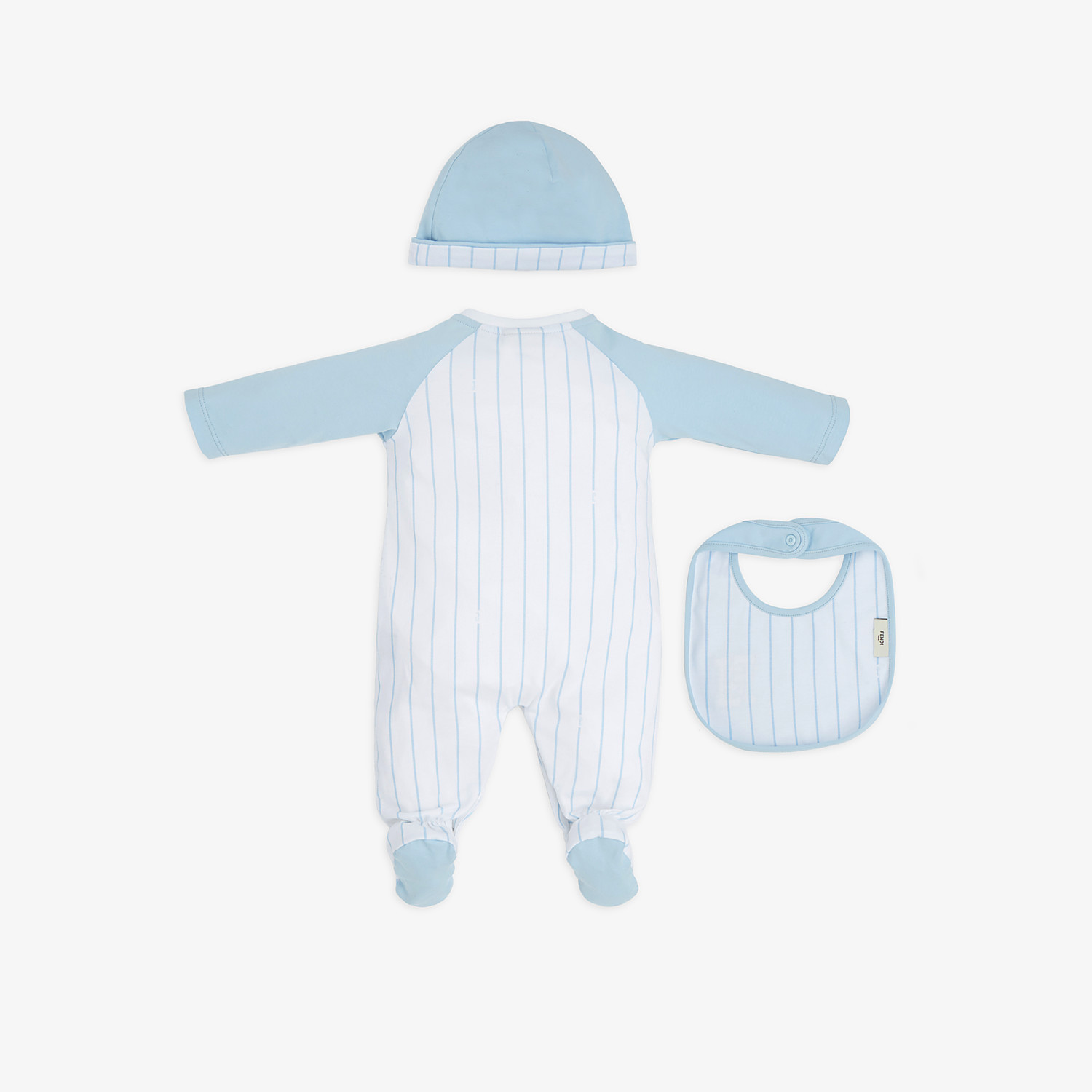 FENDI MATCHING OUTFIT FOR BABIES - White and blue jersey kit - view 2 detail