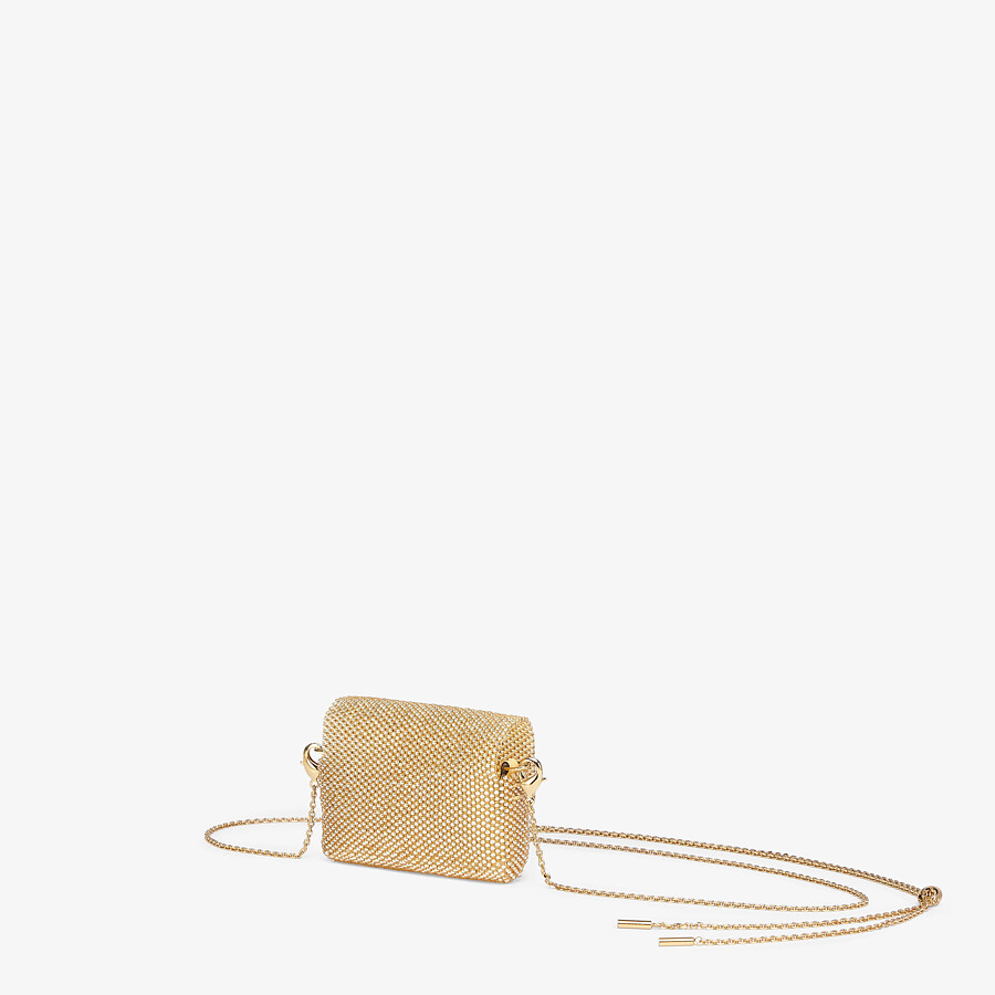 FENDI PICO BAGUETTE CHARM - Charm with champagne-colored beading - view 2 detail