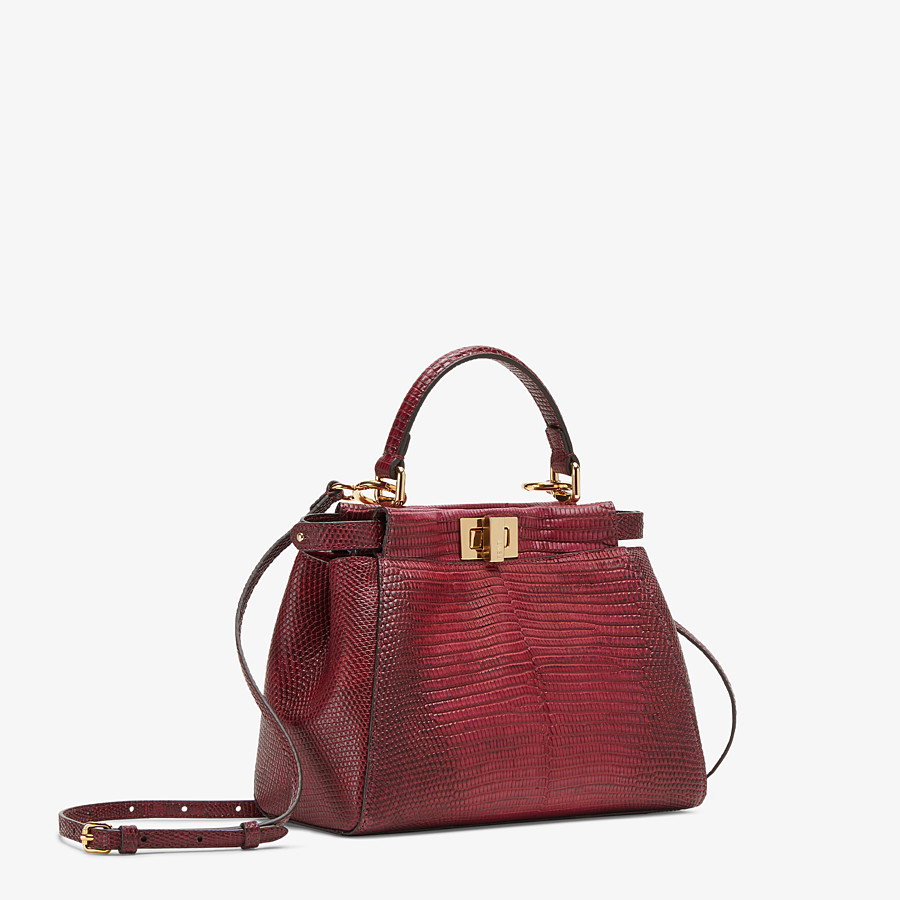 FENDI PEEKABOO ICONIC MINI - Lizard skin bag - view 2 detail