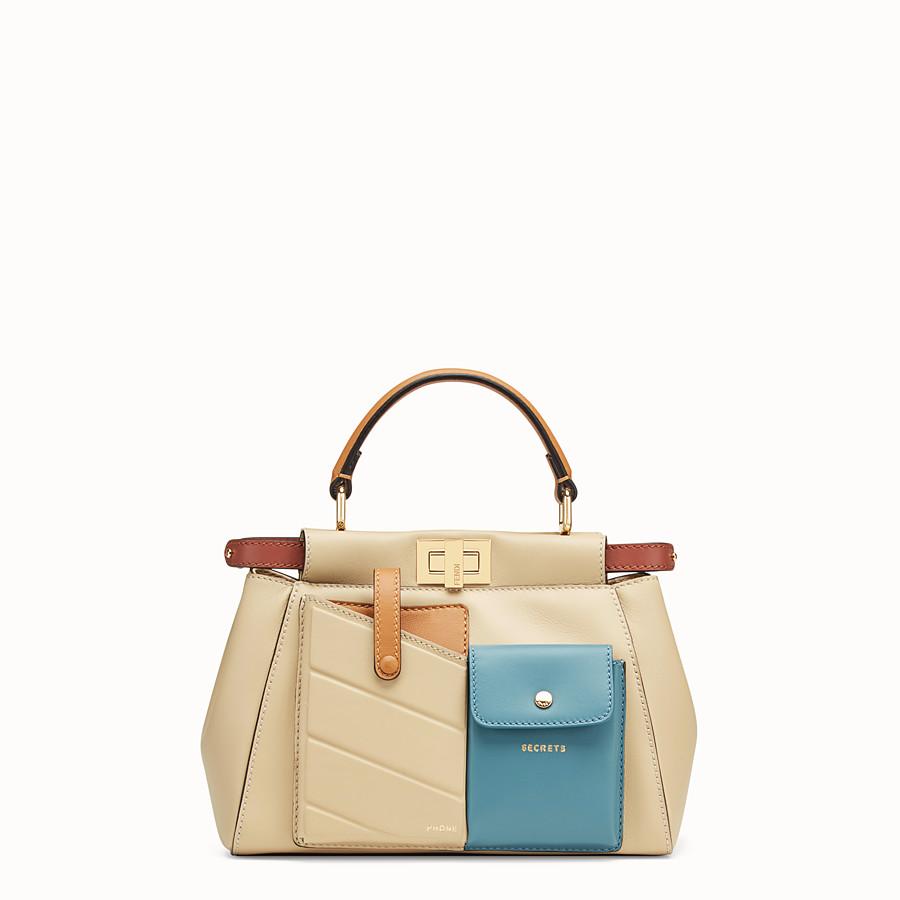 FENDI PEEKABOO MINI POCKET - Beige leather bag - view 1 detail