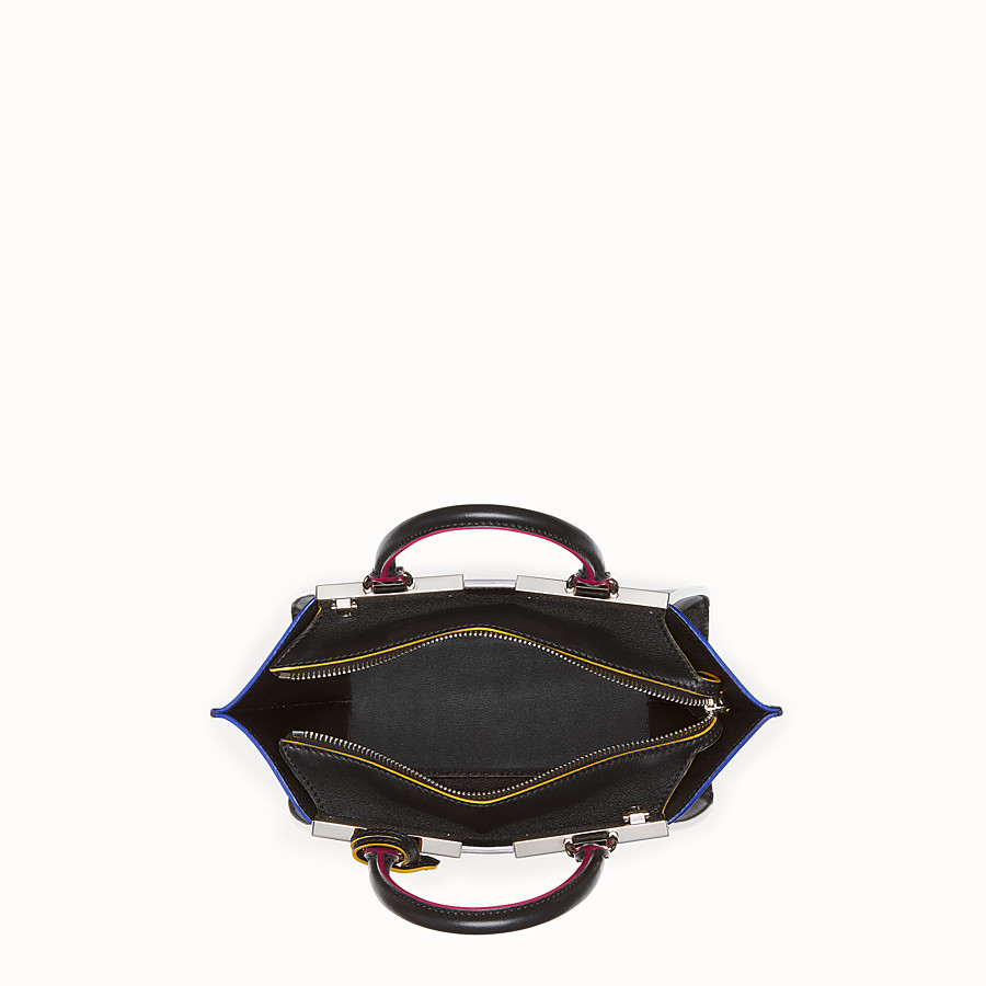 FENDI MINI 3JOURS - Black leather handbag - view 4 detail