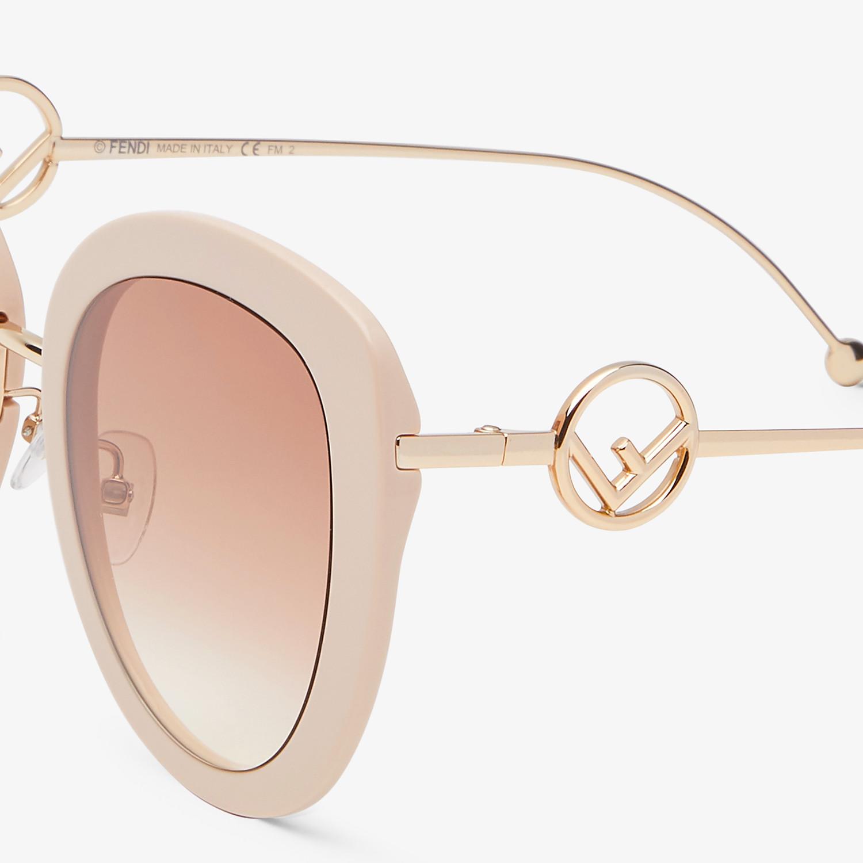 FENDI F IS FENDI - Pink acetate and metal sunglasses - view 3 detail