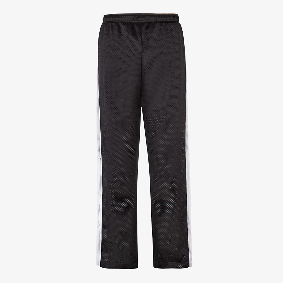 FENDI TROUSERS - Black tech mesh trousers - view 2 detail