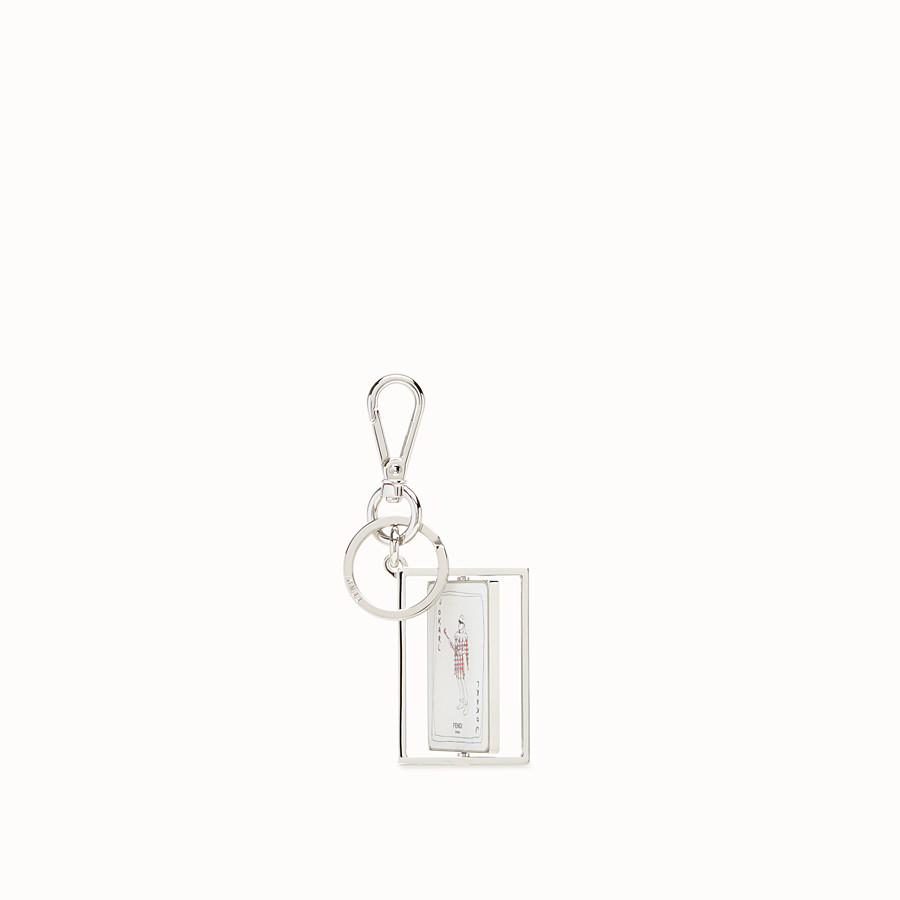 FENDI KEY RING - Silver coloured metal key ring - view 3 detail