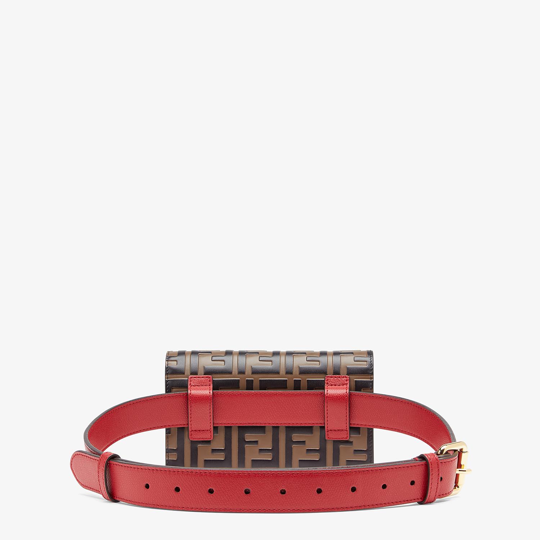 FENDI BELT BAG - Red leather belt bag - view 4 detail