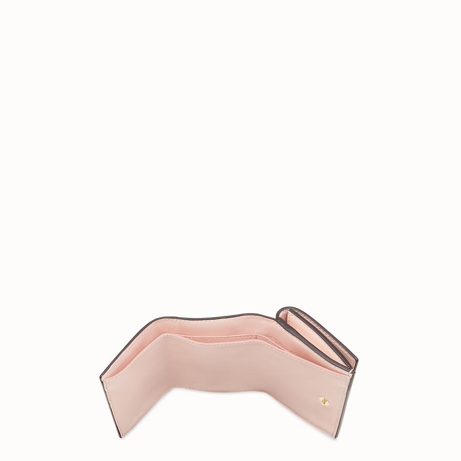 FENDI MICRO TRIFOLD - Brown leather wallet - view 4 detail