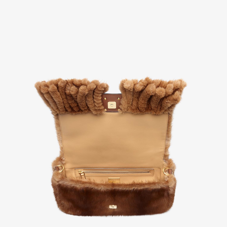 FENDI BAGUETTE - Natural mink bag with fringing - view 5 detail