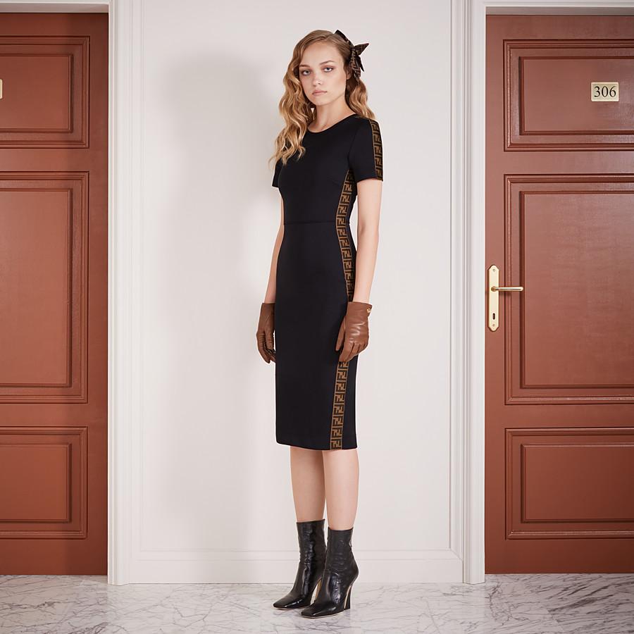 FENDI DRESS - Black piqué dress - view 4 detail