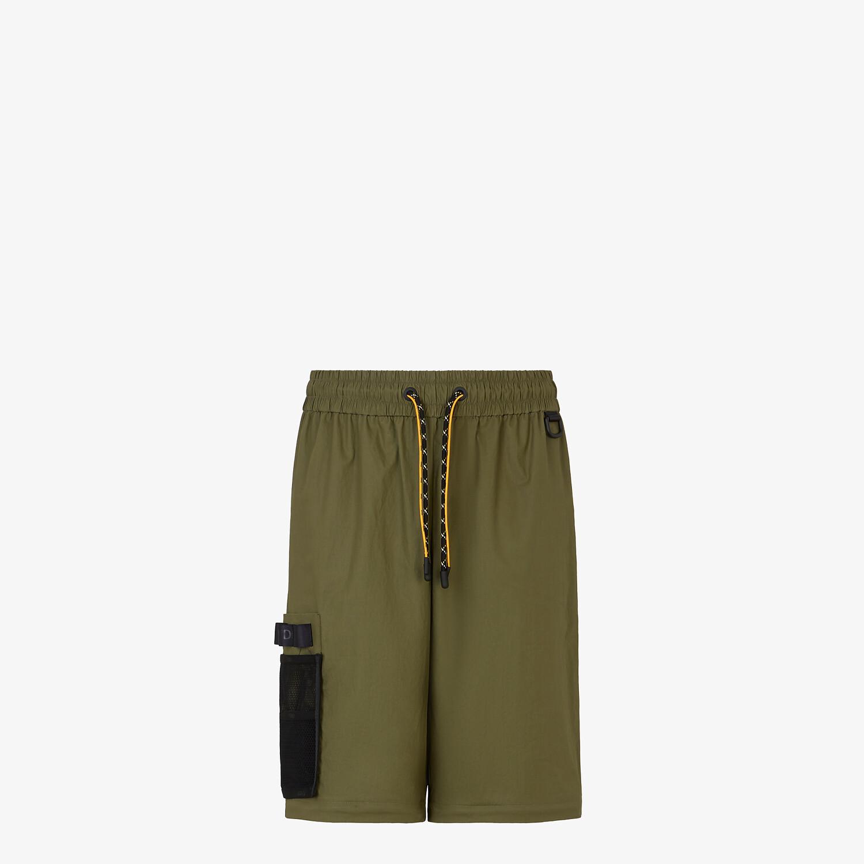 FENDI PANTS - Green nylon pants - view 4 detail