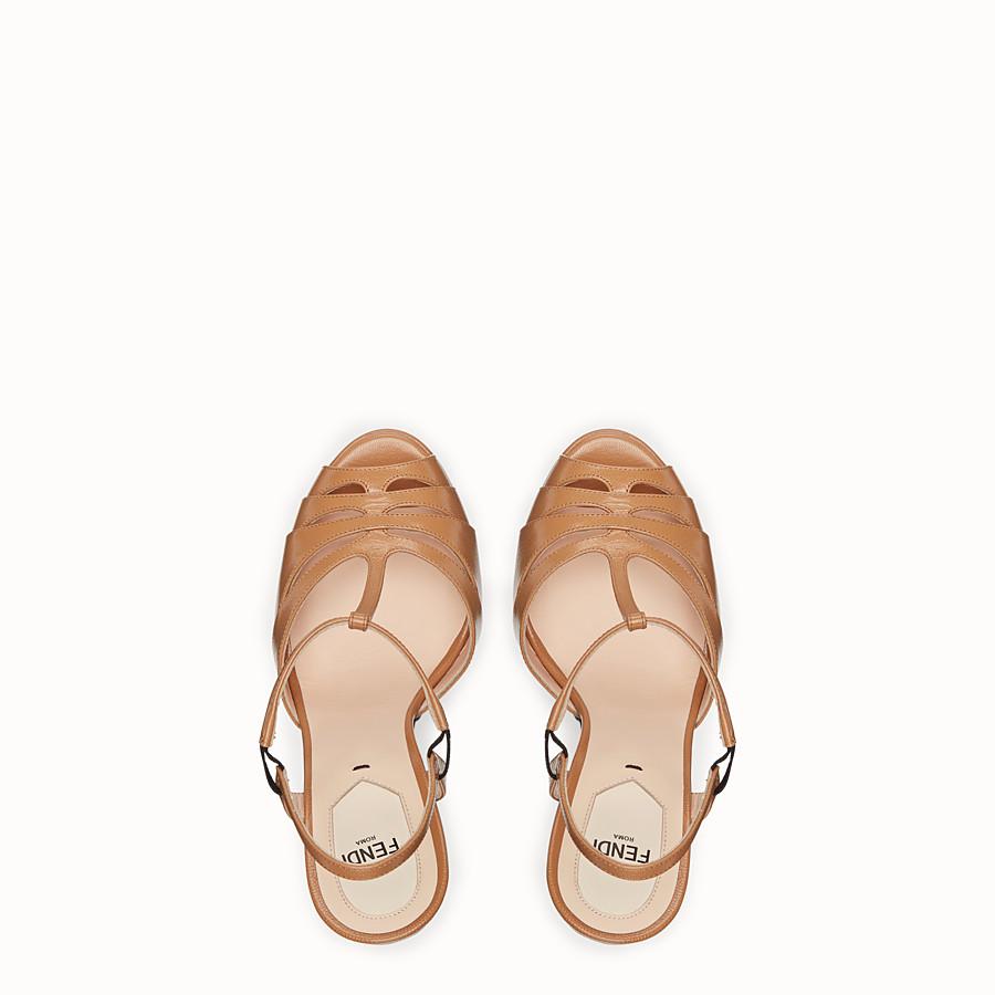 FENDI SANDALES - Sandales en cuir beige - view 4 detail