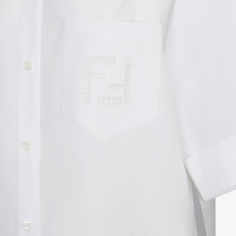 FENDI SHIRT - White poplin shirt - view 3 detail