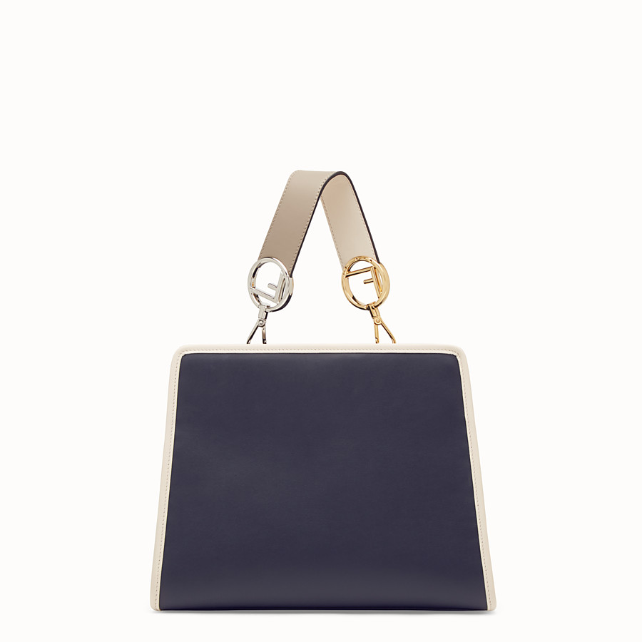 FENDI RUNAWAY SMALL - Blue leather bag - view 3 detail