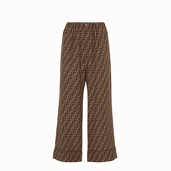 FENDI PANTS - Multicolor crêpe de chine pants - view 1 small thumbnail