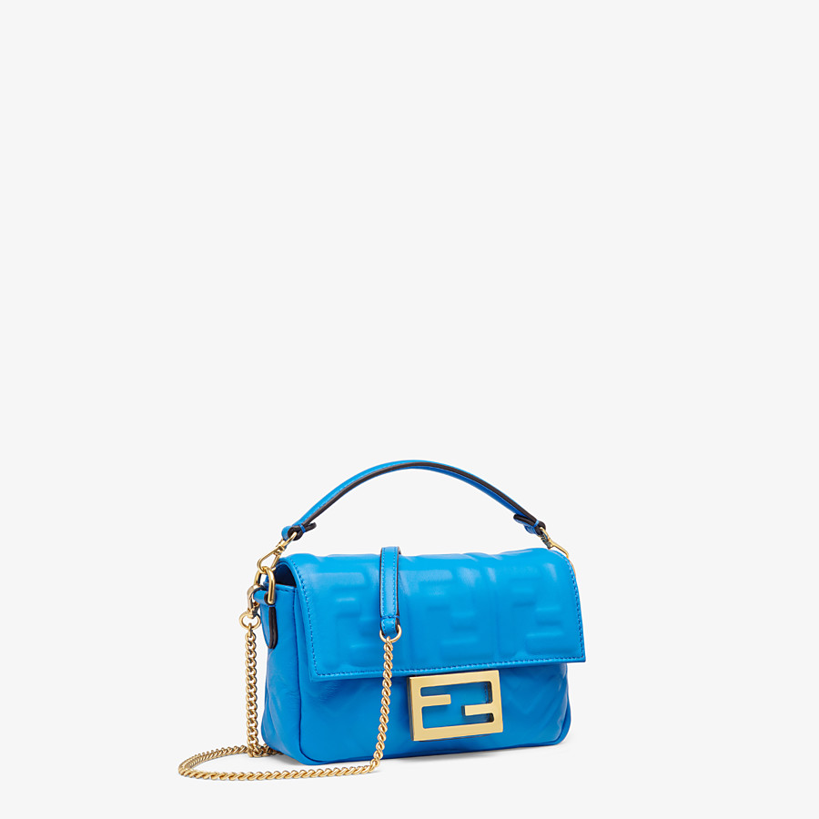 FENDI BAGUETTE - Blue leather minibag - view 2 detail