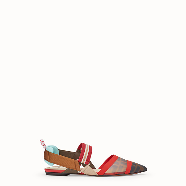 FENDI SLINGBACK - Multicolour technical-mesh sabots - view 1 small thumbnail