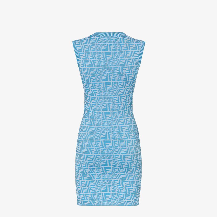 FENDI DRESS - Light blue viscose dress - view 2 detail