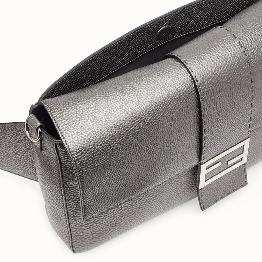 FENDI BAGUETTE - Grey leather bag - view 6 detail