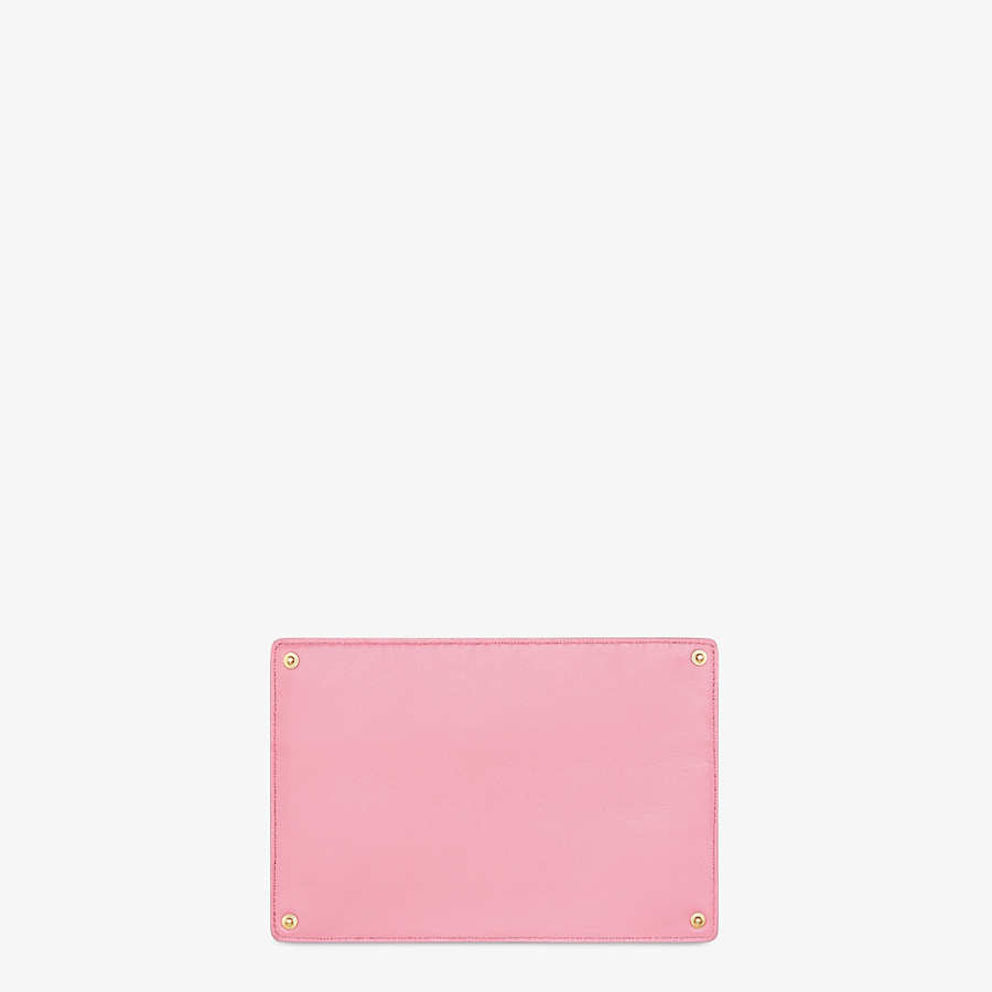 FENDI PEEKABOO ISEEU POCKET - Accessory pocket in pink leather - view 2 detail