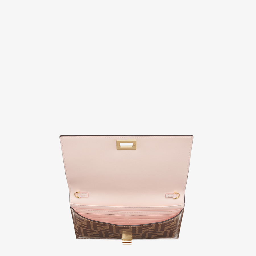 FENDI WALLET ON CHAIN - Brown leather minibag - view 4 detail