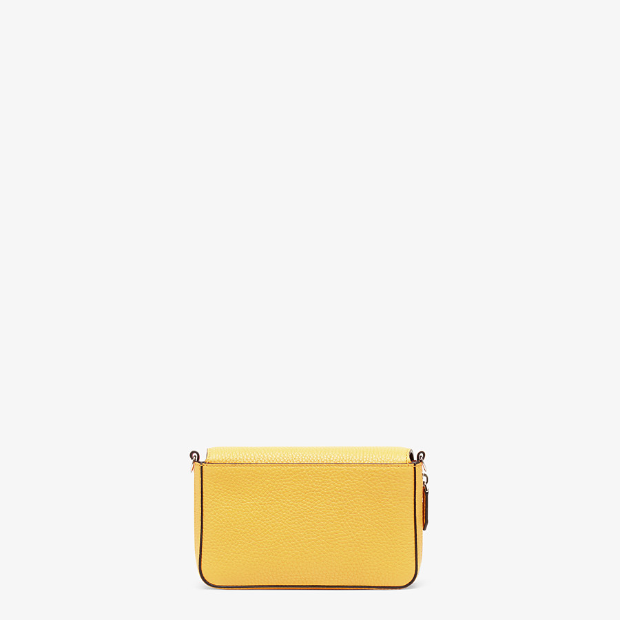 FENDI FLAP BAG - Yellow leather bag - view 4 detail