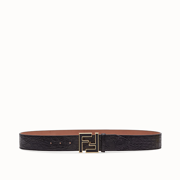 FENDI BELT - Black caiman belt - view 1 small thumbnail