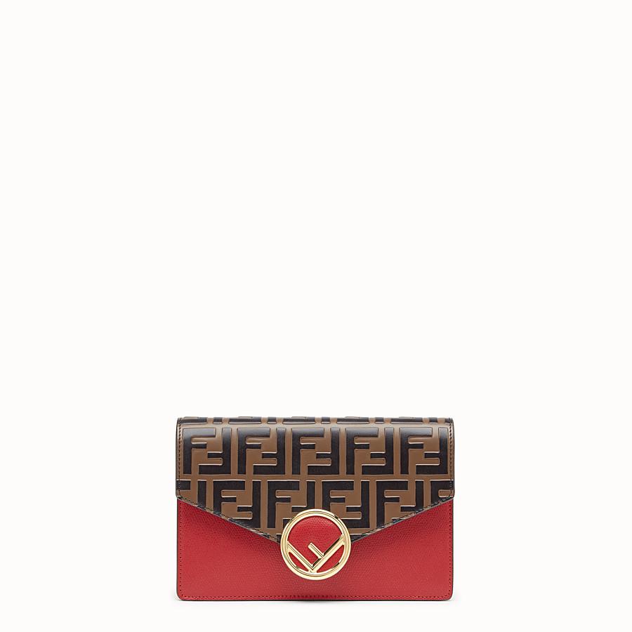 FENDI WALLET ON CHAIN - Minibag in pelle rossa - vista 1 dettaglio