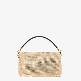 FENDI BAGUETTE LARGE - Sac en paille naturelle - view 4 thumbnail