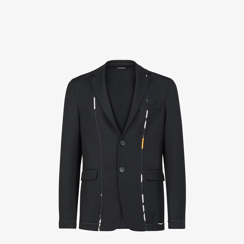 FENDI JACKET - Black twill blazer - view 1 detail
