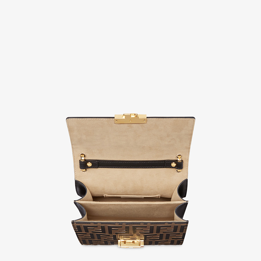 FENDI KAN U SMALL - Brown leather mini-bag - view 4 detail