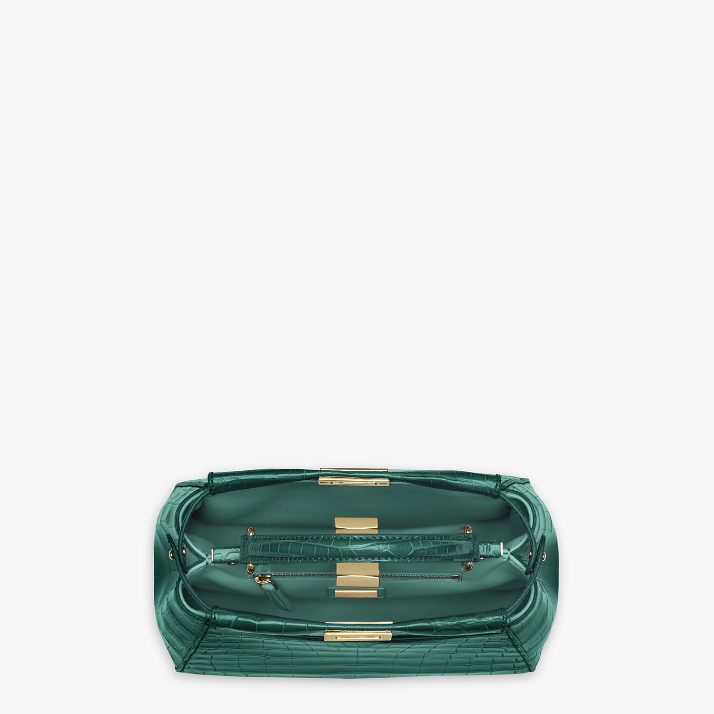 FENDI PEEKABOO MINI - Green crocodile handbag - view 4 detail