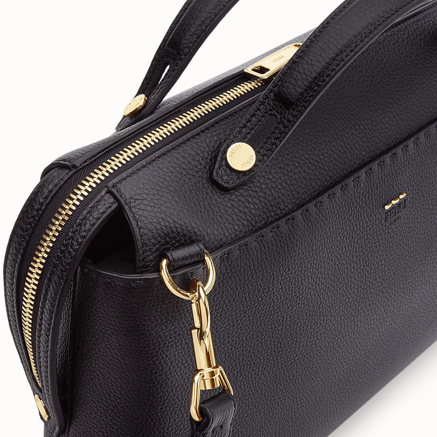 FENDI BY THE WAY - Black leather bag - view 5 detail