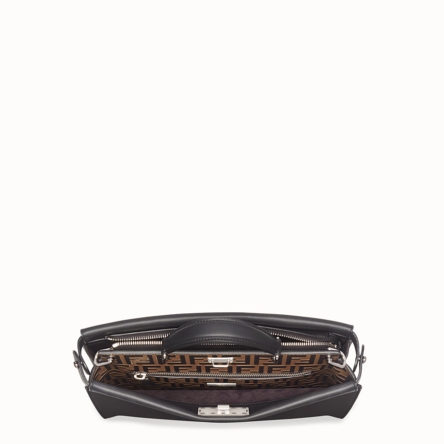 FENDI PEEKABOO FIT - Sac en cuir noir - view 4 detail